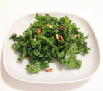 massaged raw kale salad with toasted pine nuts, parmesan & lemon juice