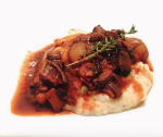 smitten kitchen's mushroom bourguignon with mashed potato