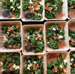 packing a billion winter kale salad lunches