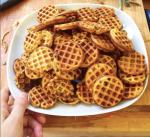 sweet potato mini waffles with sage